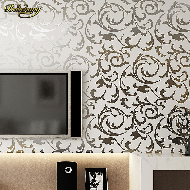 beibehang 3D European Gold Silver Wallpaper For Living room Sofa TV background roll papel de parede listrado 3d wallpaper for living room love rabbit wallpaper roll bedroom sofa tv backgroumd of wall paper roll papel de parede listrado