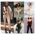 Sexy Women Jumpsuits fit bodysuit femme solid ladies sexy jumpsuits summer 2017 new slim rompers women casual beachwear Z15