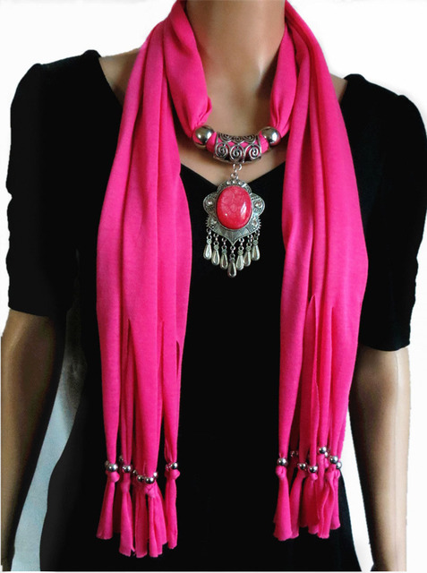 New charms winter scarf necklaces tassel bead vintage national new charms winter scarf necklaces tassel bead vintage national pendant scarf necklaces women scarf necklaces jewelry aloadofball Images