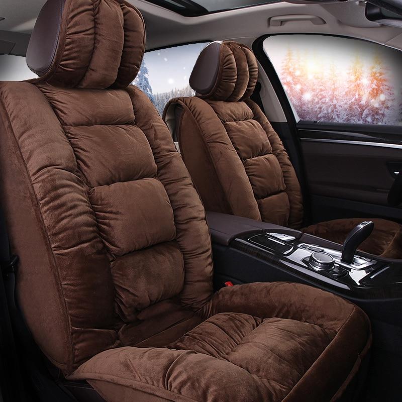 Car Travel Car seat covers faux fur cute winter new plush for isuzu M-MAX MU-X same structure  car interior accessories cushion