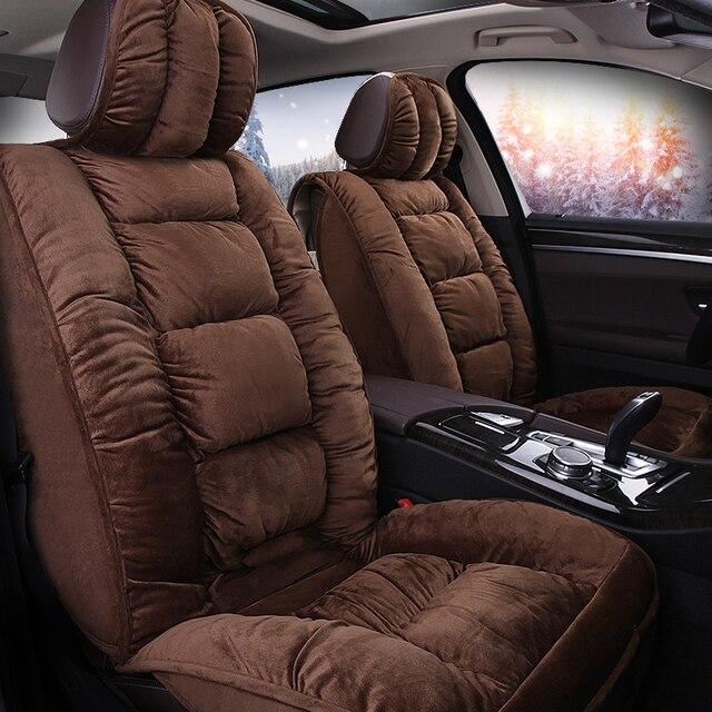 Car Travel Seat Covers Faux Fur Cute Winter New Plush For Isuzu M MAX