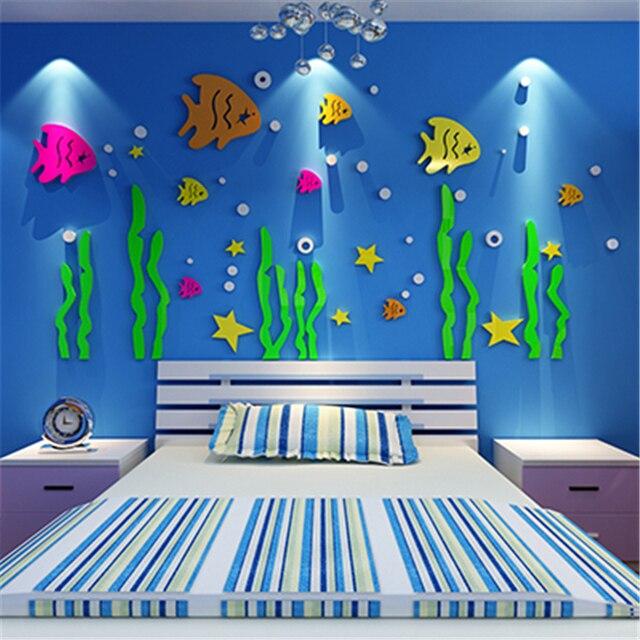Aliexpress.com : Buy New DIY Underwater World Acrylic wall stickers ...