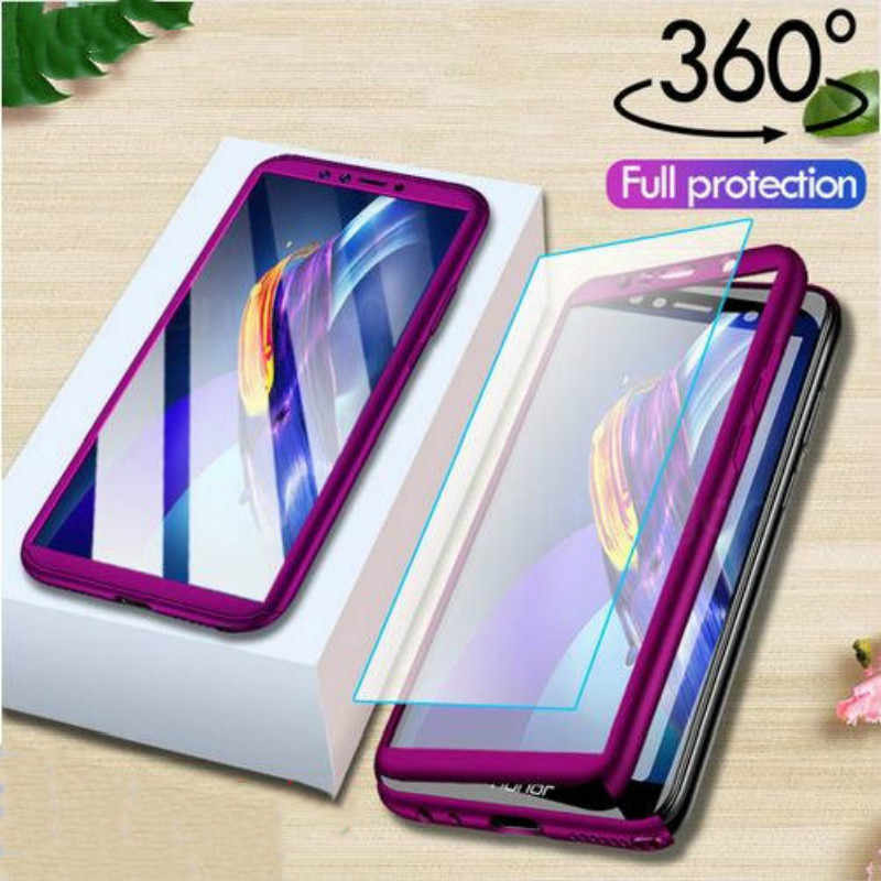 360 Full Cover Case for Huawei Y9 Y7 Prime Y6 Pro P Smart 2019 P30 P20 P10 Lite Honor 8X 8A 8C 7C 7A Front Back Case With Glass