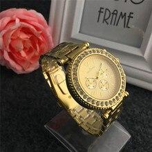 Genebra relógio Da Liga Cheia Pulseira de Quartzo Das Senhoras relógios de luxo Presentes Para A Menina Mulheres Diamonds Assista relogios femininos