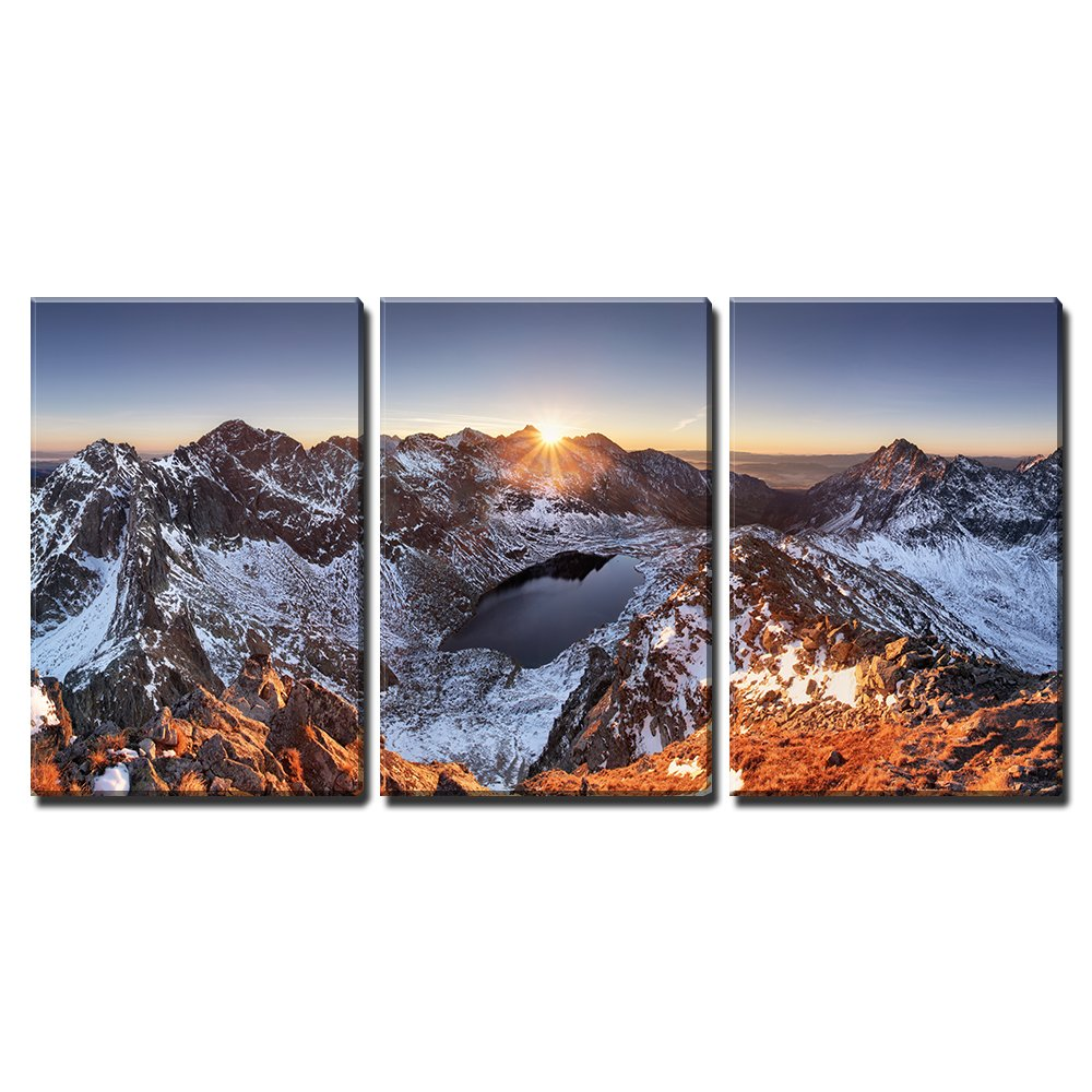3 Piece Canvas Wall Art Mountain Panorama At Winter Fall In Slovakia Tatras Modern Home Decor Drop Shipping Painting Calligraphy Aliexpress
