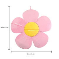 80cm Baby Blooming Bath Flower Bath tub Baby Security Petal Seat Pad Newborn Foldable Four Petal Flower Shower Cushion mat