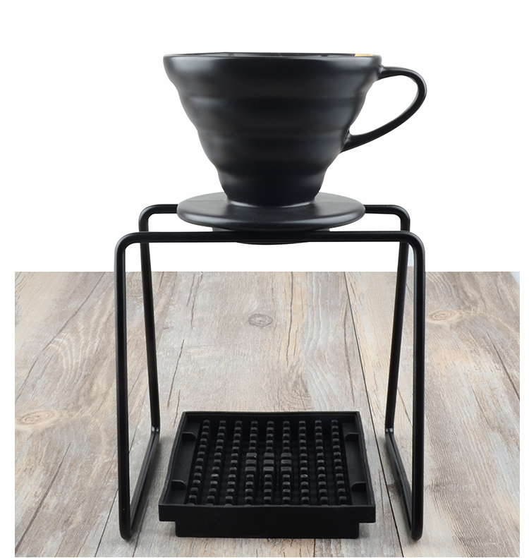 1set geometry coffee dripper stand/household coffee drip holder metal filter cup holder set