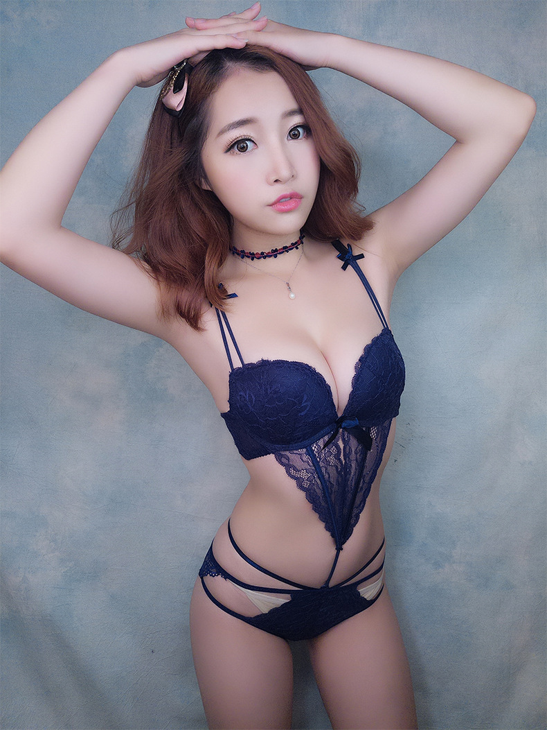MINGMO Bra & Brief Sets Japanese Sexy Temptation Cotton Push Up Bra Lace Siamese Intimates Lingerie Set Women Underwear Bra Sets()