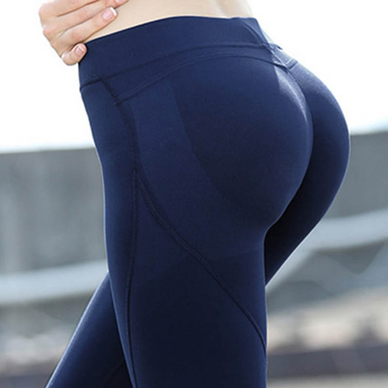 2018 Eshtanga women Tight Sports sexy hips push up leggings Yoga pant High Solid Skinny Stretch Leggings Size XS-XL r3 2led super bright mini headlamp headlight flashlight torch lamp 4 models