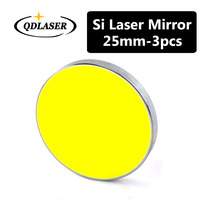 3pcs Silicon Laser Reflect Mirror Dia. 25mm Coated Gold for CO2 Laser Engraving Cutting Machine High Quality