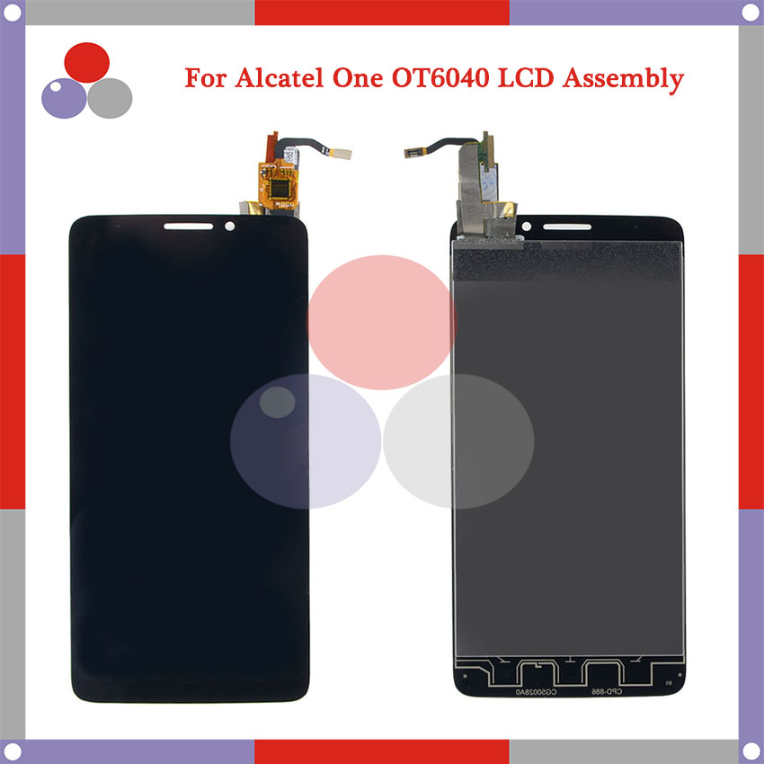 10Pcs/Lot For Alcatel One Touch Idol X OT6040 6040 6040D LCD Screen Display + Touch Screen Digitizer Assembly DHL Free Shipping