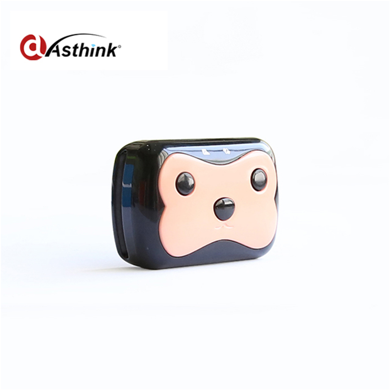 Mini Waterproof Pets Collar GPS Tracker Cat Dog 4 Frequency GPRS GPS+LBS Dual Location with Free APP Free shipping