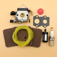 Carburetor Carby Air Filter Fuel Hose Kit For Stihl FS38 FS45 FS46 FS45C FS45L FS74 FS75 FS76 FS80 FS85 FS310 Trimmer Parts