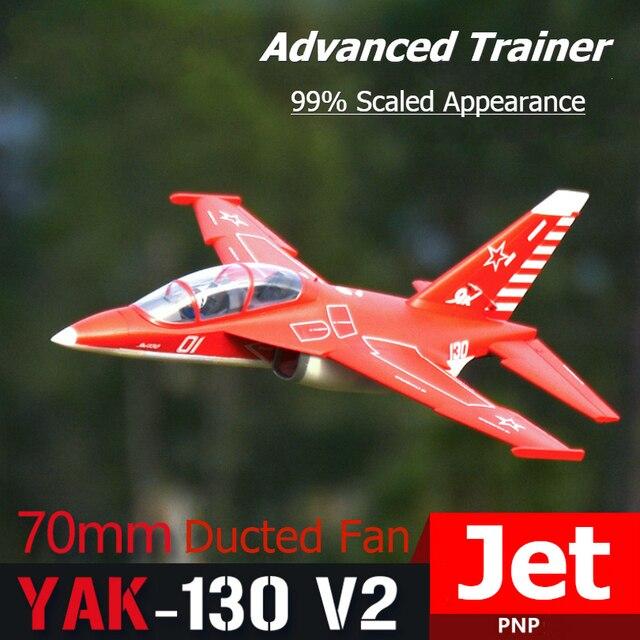 Fms Rc Vliegtuig Yak-130 V2 70 Mm Ducted Fan Edf Jet Grote Schaal Model Vliegtuig Vliegtuigen Avion Pnp 6S Met Retracts Flappen Yak130