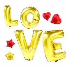 40 inch gold silver LOVE foil balloons