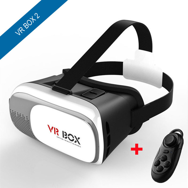 NEW Google cardboard VR BOX II 2.0 Version VR Virtual Reality 3D Glasses For 3.5 - 6.0 inch Smartphone+Bluetooth Controller 1.0