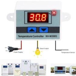 10A 12 V 24 V 110 V 220VAC XH-W3001 Digitais LEVOU Controlador De Temperatura Para Incubadora de Refrigeração Interruptor De Aquecimento Termostato NTC sensor de