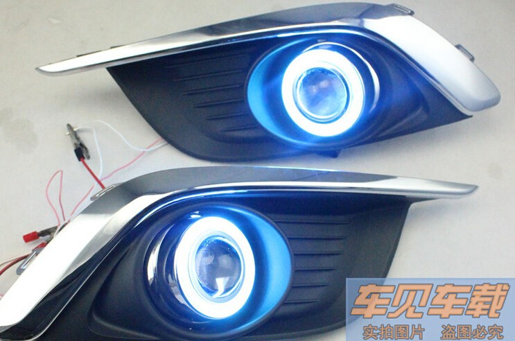 eOsuns Innovative COB angel eye led daytime running light DRL + halogen Fog Light + Projector Lens for chevrolet aveo sonic 2014 led drl daytime running light cob angel eye 5 colors projector lens halogen fog lamp for volkswagen vw golf 6 mk6