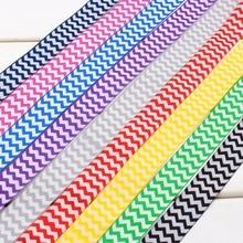 1730126 ,1» 25mm 9 Color choose 10yard/lot wave Ribbons Printed grosgrain Wedding Accessories DIY handmade materials Gift