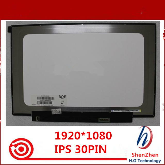 BRIGHTFOCAL New LCD Screen for NV140FHM-N3B N38 FHD 1920x1080 IPS Replacement LCD LED Display Panel