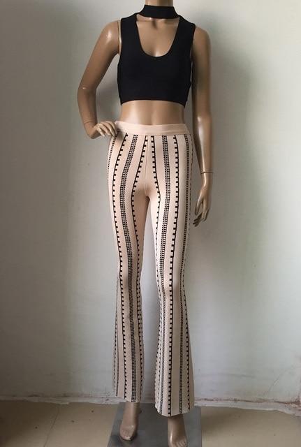 2017 Women Bodycon leggings bandage bottoms high waist harem long wide leg pants palazzo summer fashion club wonder sweatpants 4
