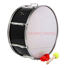 20 inch / Black / Single tone Afanti Music Bass Drum (BAS-1372)