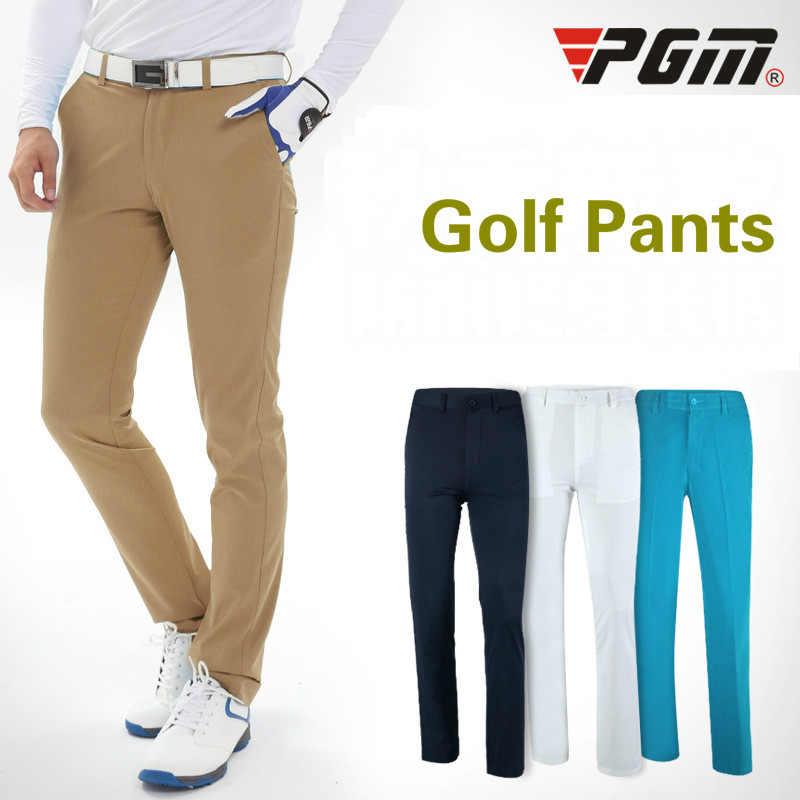 цена на 2018 PGM Men's Golf Pants Quick Dry Slim Sports Colorful Golf Trousers Summer Breathable Pants for men size XXS-XXXL