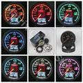 GRe ** y Vacuum Gauge GReddi 7 Luz de Colores Pantalla LCD Con Metro Del Coche Calibrador de tensión de 62mm 2.5 Pulgadas Con Sensor de Racing Gauge