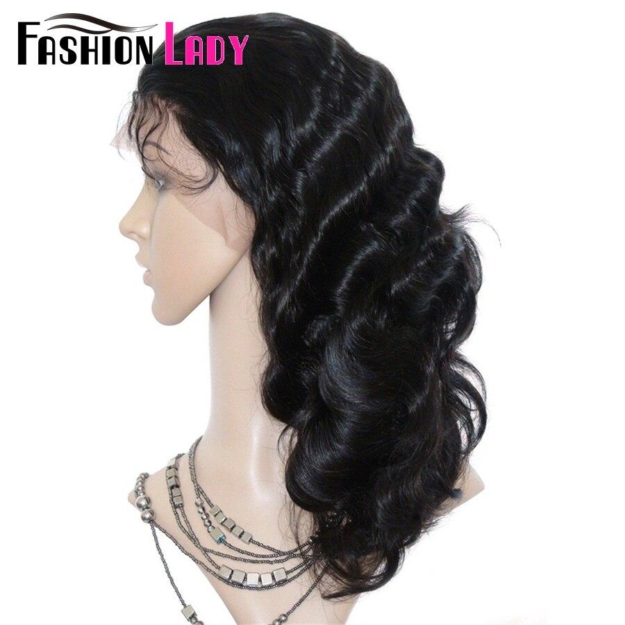 Mode dame brésilienne Remy cheveux 14 pouces 100% cheveux humains perruques 150% densité vague de corps dentelle avant perruque pour les femmes - 5