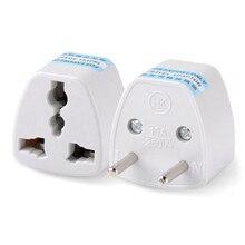 Atacado 1 PC UA REINO UNIDO EUA para a UE AC Plug Power Adapter Charger Adapter Converter Carregador de Ferramenta Frete grátis