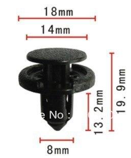 Se encaixa em 8mm buraco cabide carro caso bumper clipe push-tipo retentor para Nissan Maxima 01553-09611