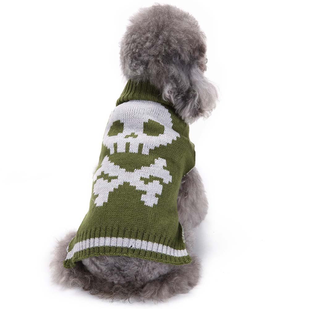 Dog Clothes For Small Dogs Pet Products Clothing Halloween Skeleton Grass Green Pet Dog Cute Clothes Puppy Winter Sweater