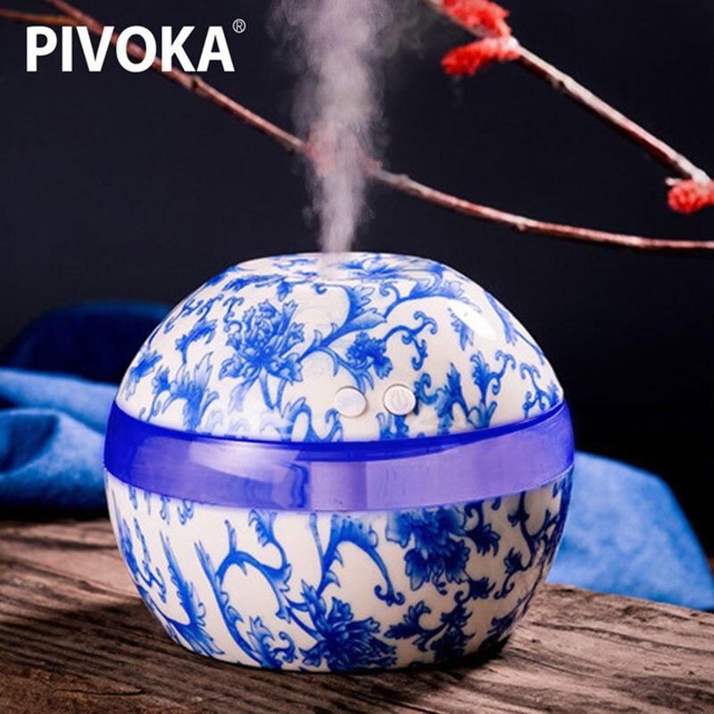 PIVOKA 300 ml Elektrische Ultraschall-luftbefeuchter Aromatherapie Ätherisches Öl Diffusor Aromatherapie USB Hause Klassische