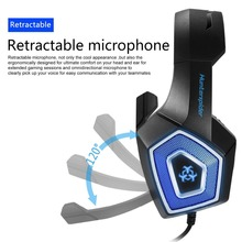 Hunterspider V1 Stereo Gaming Headset Casque Surround Sound Over-Ear Headphones with Mic LED Light for PS4 Xbox One PC
