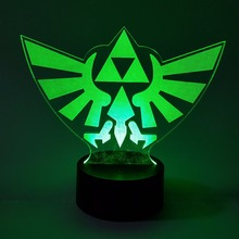 The Legend of Zelda Visual Illusion LED 3D RGB Color Changing Lamp