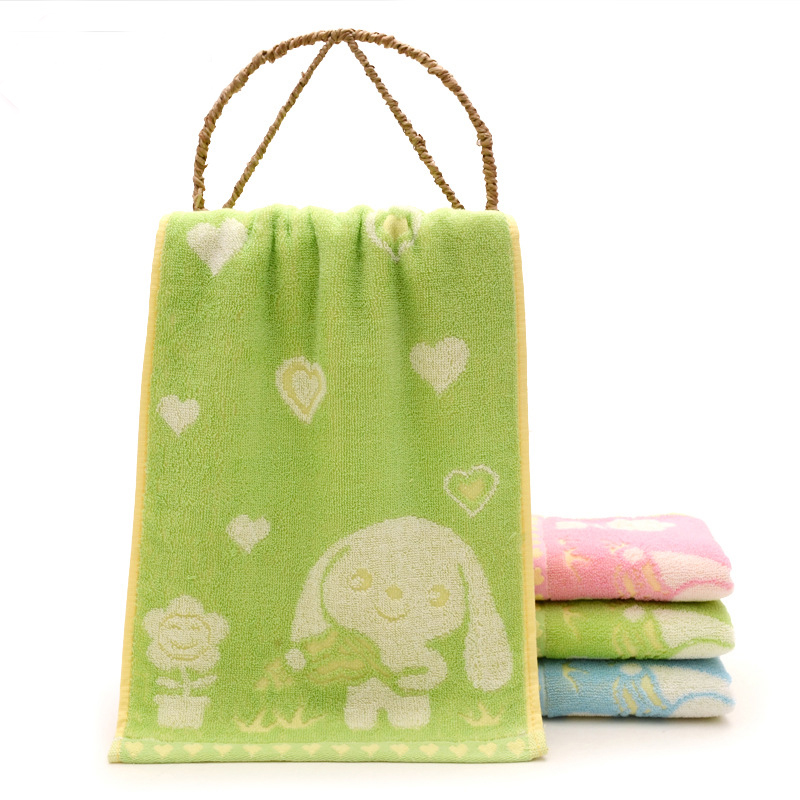3Pcs/Lot Cute Cartoon Big Ear Dog Child Towel Wipe Face Towel Soft Cotton Water Absorbent for Baby Infant Kids