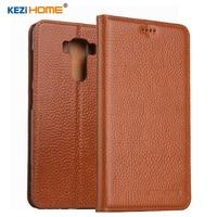 KEZiHOME for Asus Zenfone 3 Laser ZC551KL Flip genuine leather soft silicon back for Asus Zenfone 3 Laser ZC551KL cover