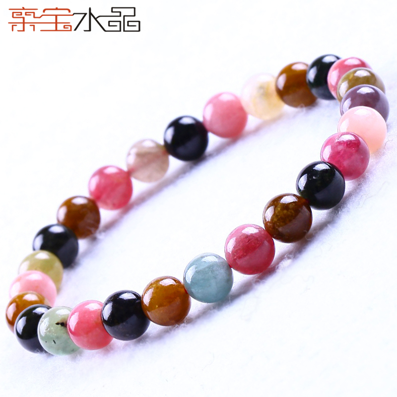 Cristal naturel tourmaline bracelet femmes accessoires de valentine jour cadeaux transbordement