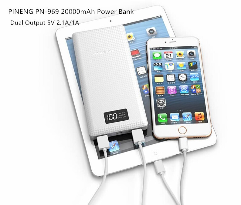 PINENG 10000mah Two-way Fast Charge Power Bank PN 993 QC3.0 Portable Battery Li-Polymer Type-c port For iphone6s Mi Huawei Meizu 12