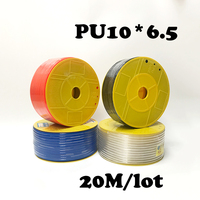 PU10*6.5 20M/lot Free shipping PU Pipe 10*6.5mm for air & water Pneumatic parts pneumatic hose ID 6.5mm OD 10mm