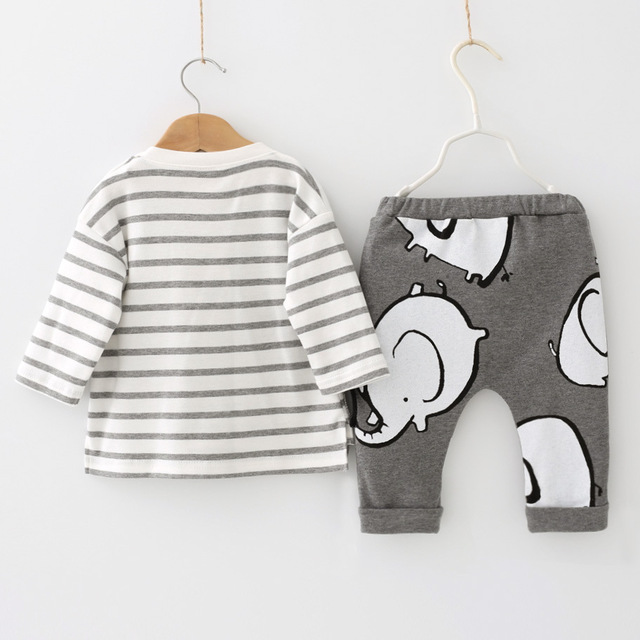 Newborn Baby Girls Clothes 2019 Autumn Winter Baby Boys Clothes Set 2pcs Outfits Kids Baby Costume Infant Clothing For Baby Suit 1