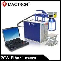 Portable 20W Fiber Laser Marking Machine For Printing On Aluminium,Bearing, Brass, Stainless Steel, Jewellery