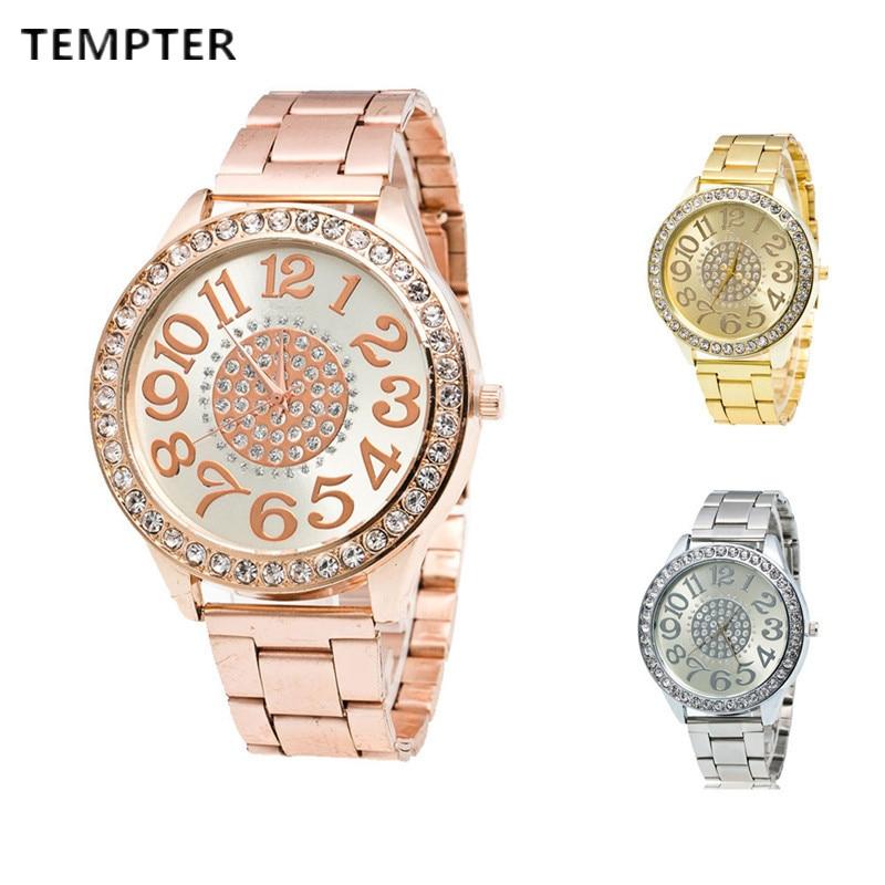 Classic Dress Women Watches Stylish Crystal Rhinestones Quartz Wristwatch Casual Watch Relogio Feminino Relogio Masculino CLOCK