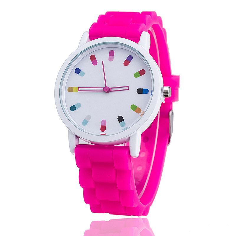 2017 hot sale Watches Women Fashion Casual quartz watches Silicone Sport women watches stainless steel watches girl clock
