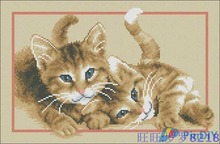 Needlework,DIY Cross Stitch,Sets For Embroidery kits,11CT&14CT,Two small yellow cat