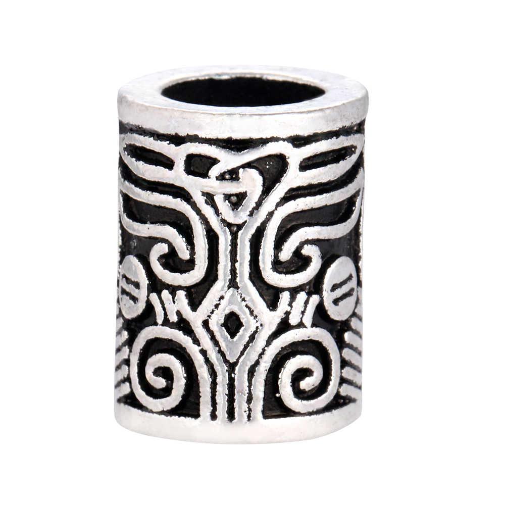 Thor viking beard grânulo de alta qualidade norse vikings runas antigo contas prata para o cabelo colar pulseira diy