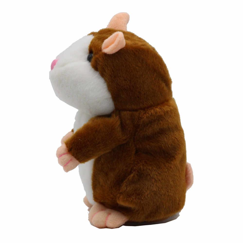 Novo falando hamster mouse pet brinquedo de pelúcia quente bonito falar som registro hamster brinquedo educativo para crianças presentes 15 cm