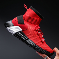 MWY Mesh Breathable Shoes For Men Sneakers Chaussures Homme Lace Up High top Men Casual Shoes Men Trainers Light Flat Shoes