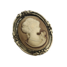Drop & Commercio All'ingrosso 1pc queen Lady Vintage Vittoriano Design Cameo Smalto Nero Bronze Spilla Spille APR28(China)