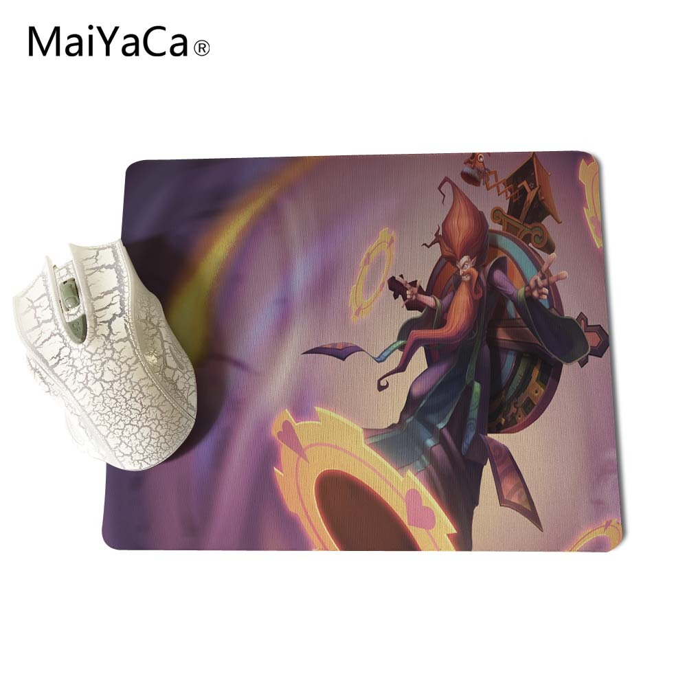 MaiYaCa For LoL Morgana Art Computer Not OverLock Edge Mouse Pad Mousepads Decorate Your Desk Non-Skid Rubber Pad 18x22cm